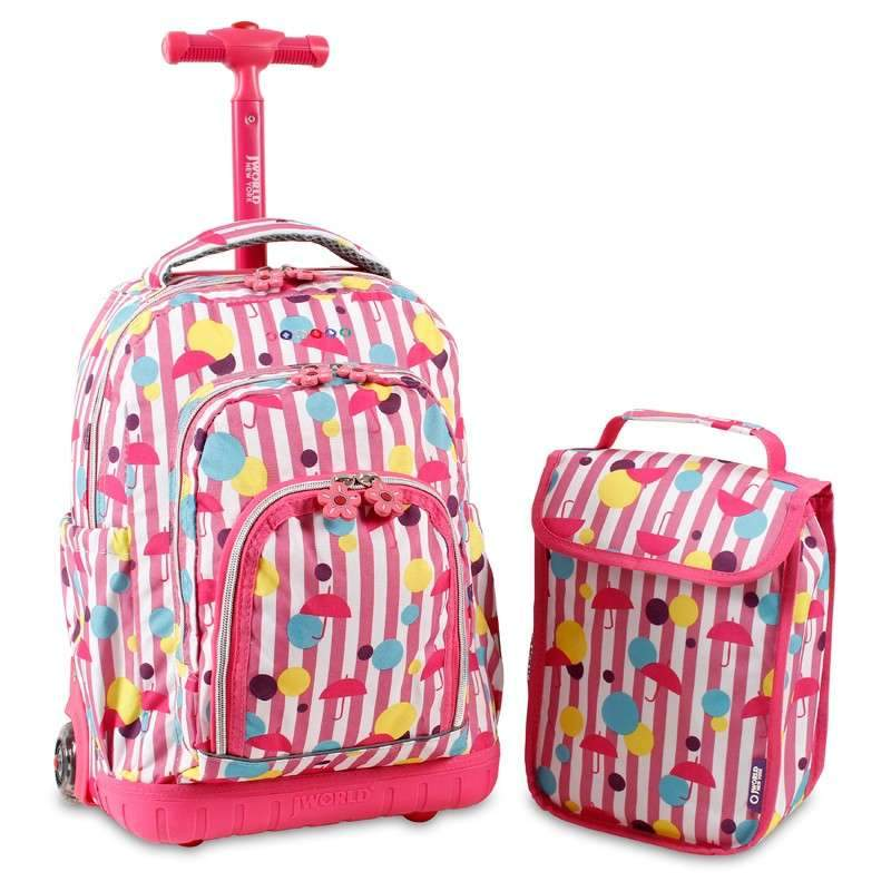 Lollipop Rolling Backpack W/ Lunch Bag