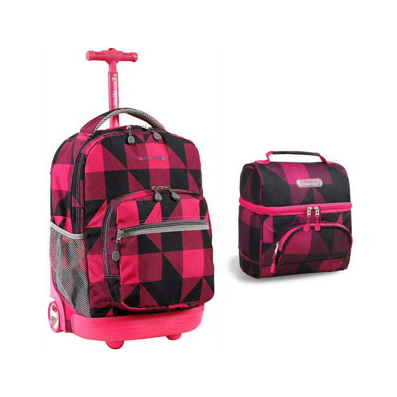 Sunrise Rolling Backpack & Corey Lunch Bag Back To School Set
