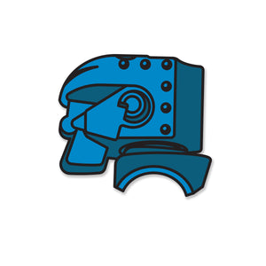 Retro Toy Blue Robot Pin