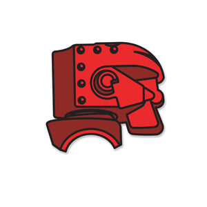 Retro Toy Red Robot Pin