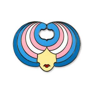 Wig Head Trans Pride Pin
