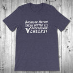 Bachelor Nation for Better Background Checks T-Shirt - Unisex Midnight Heather Blue
