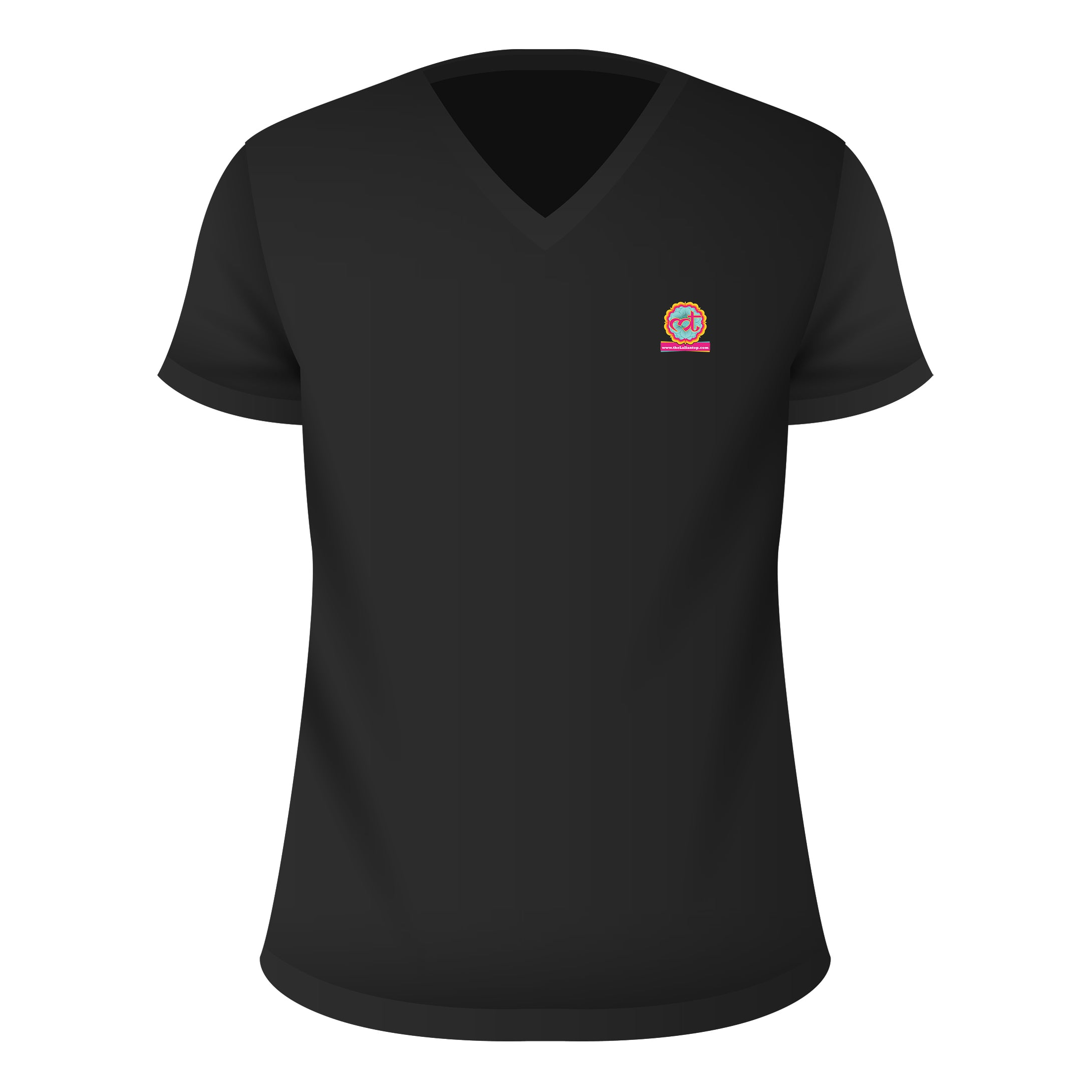 V Neck T-Shirt Black