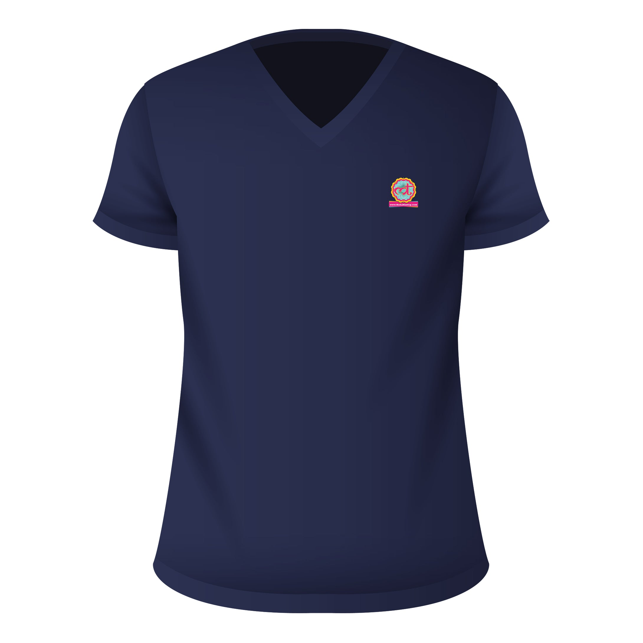 V Neck T-Shirt Navy