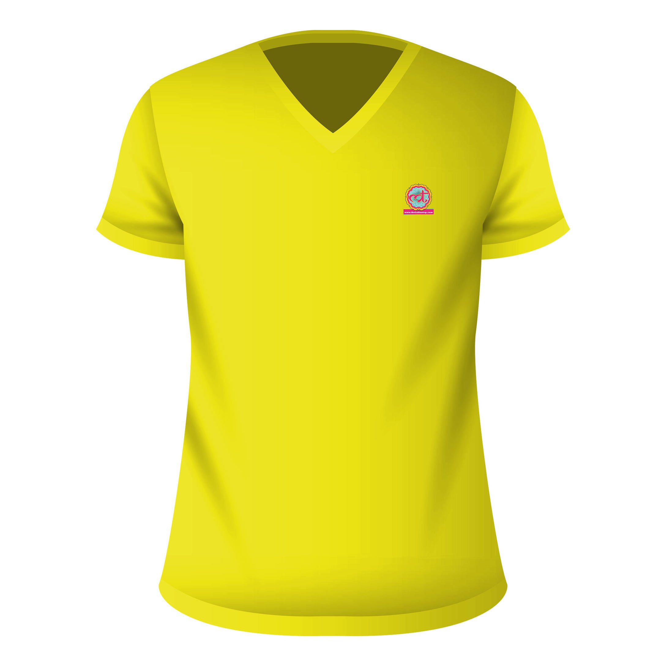 V Neck T-Shirt Yellow