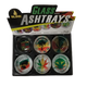 BLINK GLASS ASHTRAYS-DISPLAY OF 6 COUNT- PRICE PER PIECE