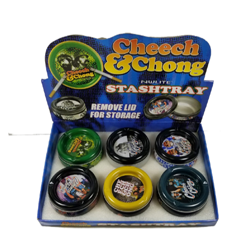 CHEECH & CHONG STASH TRAY-ASSORTED DESIGN-PRICE PER PIECE