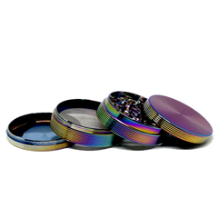 DESIGNER 4 PARTS RAINBOW COLOR GRINDER-MG-046-PRICE PER PIECE