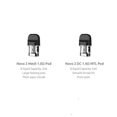 SMOK NOVO 2 REFILLABLE 2ML REPLACEMENT PODS - PACK OF 3