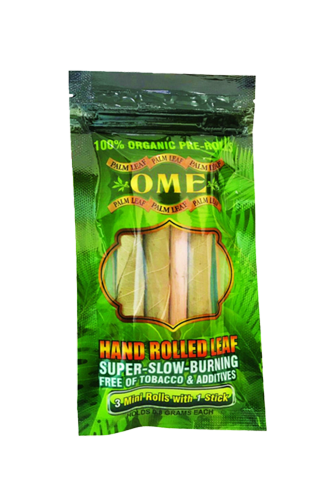 OME HAND ROLLED PALM LEAF 3 MINI ROLLS ASSORTED FLAVOURS