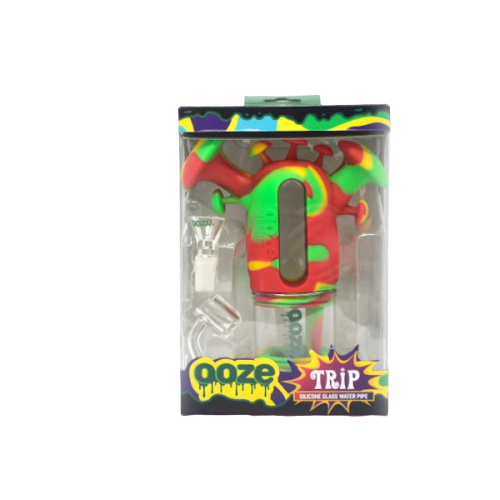 OOZE TRIP SILICONE GLASS WATER PIPE