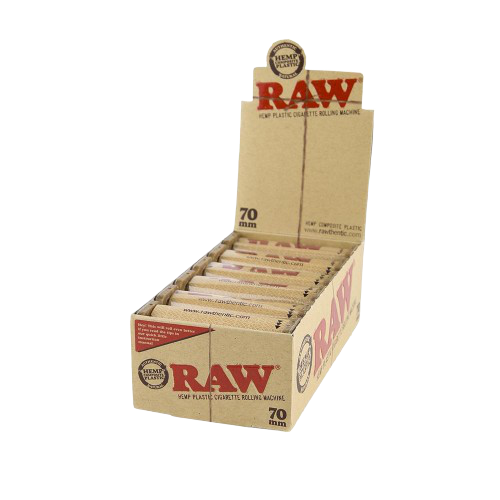 Raw Hemp Plastic Cigarette Rolling Machine 70mm, 79mm And 110mm - 12 Rollers in Box