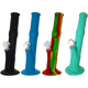 "Ribbed Silicone 14"" Water Pipe in assorted colors-Price Per Piece"