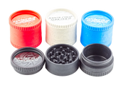 Santa Cruz Hemp 3 Piece Shredder(Grinder) in Assorted Colors-Price Per Piece