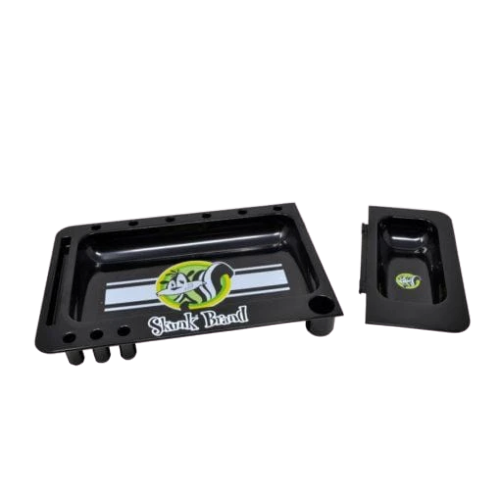 SKUNK BRAND ROLLING TRAY BLACK WITH COVER
