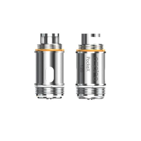 ASPIRE POCKEX REPLACEMENT COILS 0.6 OHM AND 1.2 OHM SS316L - PACK OF 5-Vape Coils-fourseasons-trade