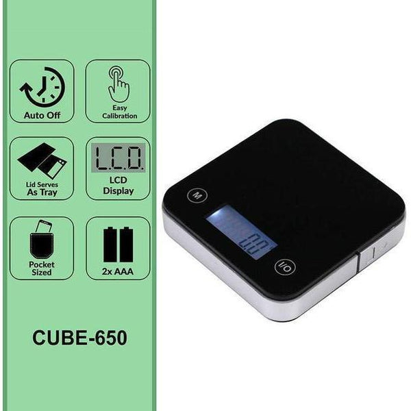AWS Cube High Precision Pocket Weight Scale 650G X 0.1G-SCALES-fourseasons-trade