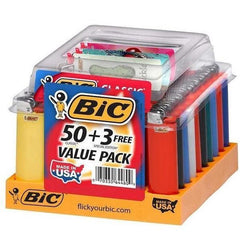 BIC Classic Lighter MINI And Regular, Maxi Lighter Tray, Fashion Assorted Colors - Special Edition-Lighter-fourseasons-trade