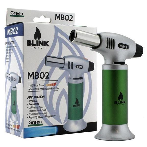 BLINK MB02 MB-02 ADJUSTABLE BUTANE LIGHTER TORCH - ASSORTED COLORS-Torches-fourseasons-trade