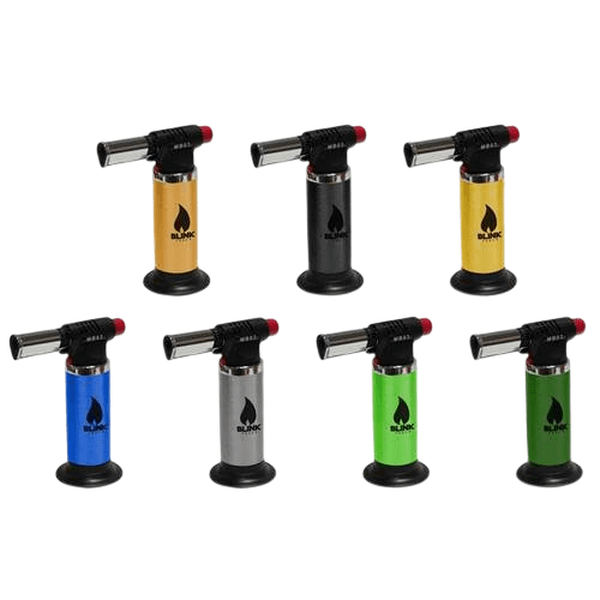 BLINK MB03 MB-03 ADJUSTABLE REFILLABLE BLUE FLAME BUTANE LIGHTER TORCH - ASSORTED COLORS-Torches-fourseasons-trade
