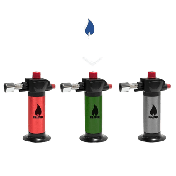 BLINK MB05 MB-05 ADJUSTABLE REFILLABLE BLUE FLAME BUTANE LIGHTER TORCH - ASSORTED COLORS-Torches-fourseasons-trade