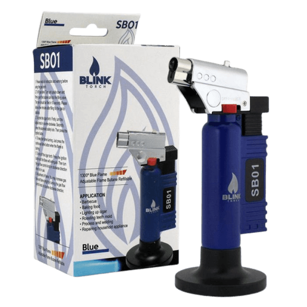 BLINK SB01 SB-01 ADJUSTABLE BUTANE LIGHTER TORCH - ASSORTED COLORS-Torches-fourseasons-trade