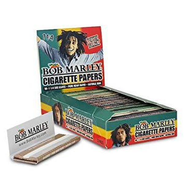 Bob Marley 1 1/4 Cigarette Rolling Papers 25 Booklets-Tobacco Paper-fourseasons-trade
