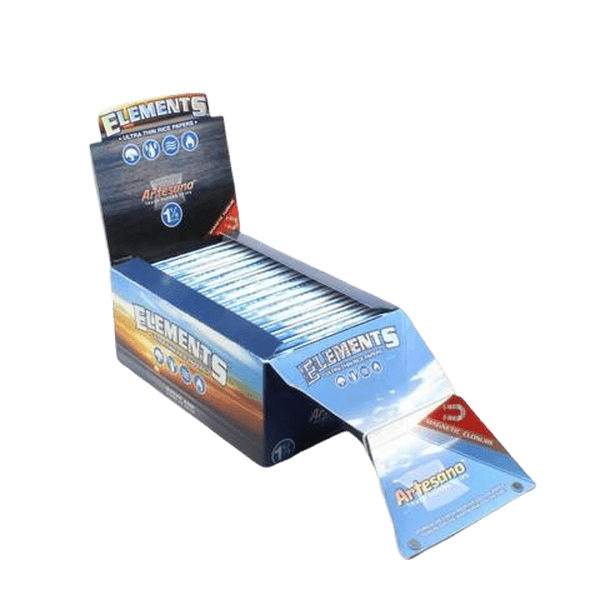 Elements Artesano 1 1/4 Rolling Paper w/ Tips & Tray - 15 Count Box-Tobacco Paper-fourseasons-trade