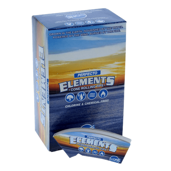ELEMENTS PERFECTO PERFECT CONICAL CONE ROLLING TIPS SLIM - 24 IN BOX-Tips-fourseasons-trade