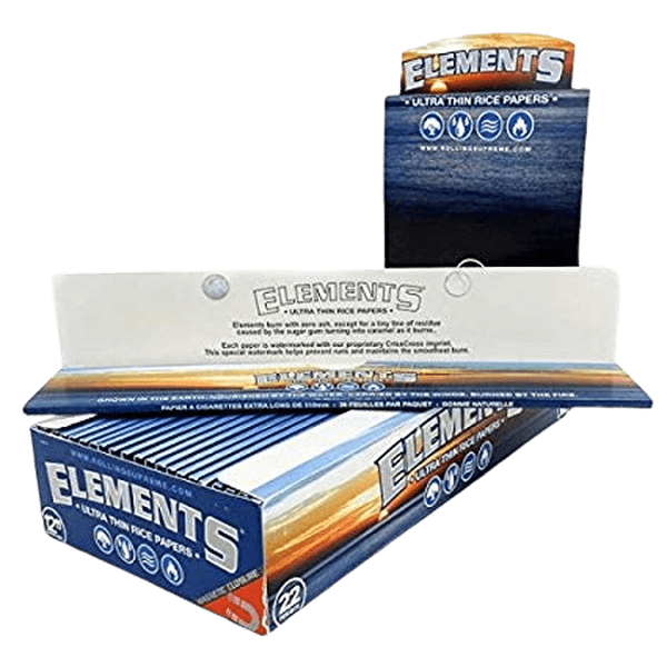 "ELEMENTS ULTRA THIN RICE PAPERS 12"" SUPER SIZE FOOT LONG - 22 IN BOX-Tobacco Paper-fourseasons-trade"