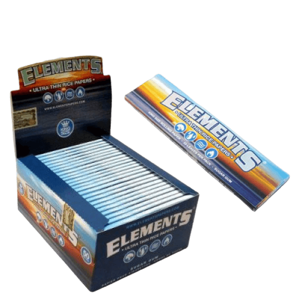 ELEMENTS ULTRA THIN RICE PAPERS KING SIZE SLIM - 50 IN BOX-Tobacco Paper-fourseasons-trade