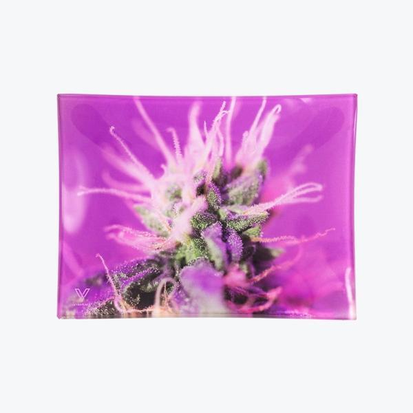 GLASS ROLLING TRAY PREMIUM QUALITY BY V-SYNDICATE-Rolling Tray-fourseasons-trade