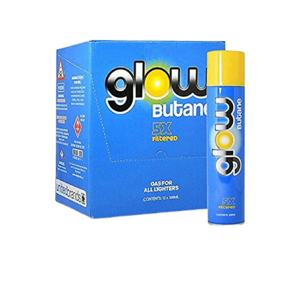 GLOW 5X BUTANE 300 ML CANS - 12 IN BOX-Butane-fourseasons-trade