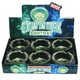 Glow in Dark Ashtray Round Glass- 6 Piece Assorted Design - Price Of Each