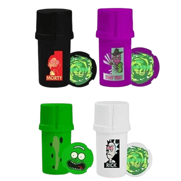 GRINDER Medtainer RICK & MORTY Smell Proof Grinder Jar - SINGLE Piece Price-Plastic Grinder-fourseasons-trade