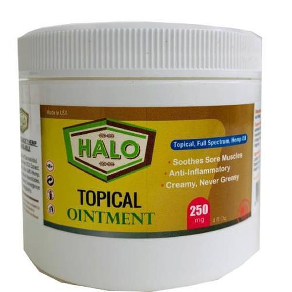 HALO CBD Topical Ointment (4 oz.)-CBD Topicals-fourseasons-trade