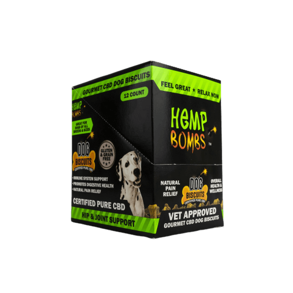 HEMP BOMB DOG BISCUITS 1oz 8-COUNT 80mg - 12 Count Display - Price of Piece-CBD For Pets-fourseasons-trade