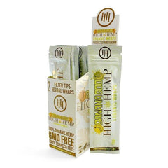 HIGH HEMP CBD ORGANIC WRAPS 2PK - 25CT-TOBACCO WRAPS-fourseasons-trade