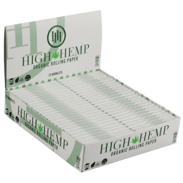 High Hemp Organic Rolling Papers - 25 in Box-Tobacco Paper-fourseasons-trade