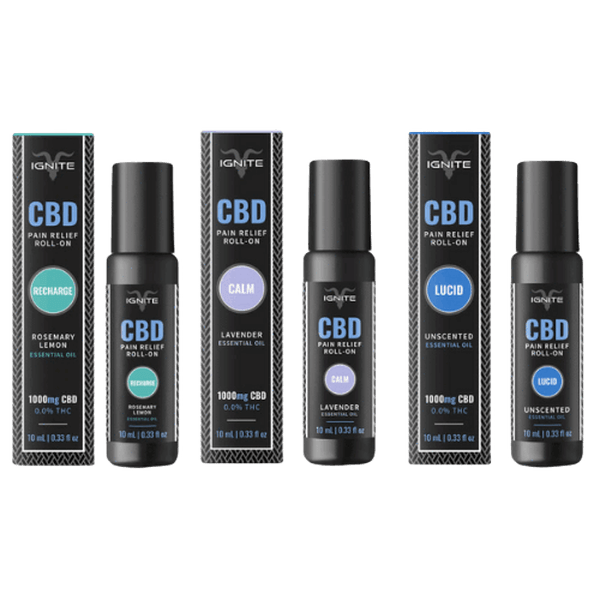 IGNITE CBD – CBD TOPICAL – PAIN RELIEF ROLL ON OIL – 1000MG-CBD Topicals-fourseasons-trade