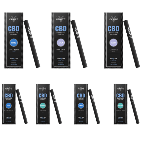 IGNITE CBD Disposable Vape Pen 250mg-CBD Disposable Pen-fourseasons-trade