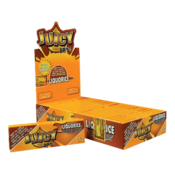 Juicy Jay's 1 1/4'' Rolling Paper - 32 Leaves Per Pack / 24 Packs Per Box-Tobacco Paper-fourseasons-trade