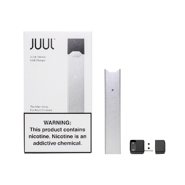 JUULS BASIC KIT Battery Vape Kit BLACK And SILVER-Pod Systems-fourseasons-trade