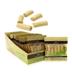 KING PALM 5 Per Pack CORN HUSK FILTERS 9mm And 10mm - 24 IN BOX-Tobacco Paper-fourseasons-trade
