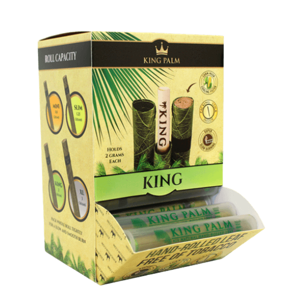 KING PALM SLIM, KING OR XL SIZE TUBE-Tobacco Paper-fourseasons-trade