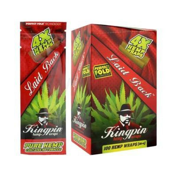 Kingpin Natural Hemp Wraps Perfect Fold 4X Hemp Wraps - 25 in Box-TOBACCO WRAPS-fourseasons-trade