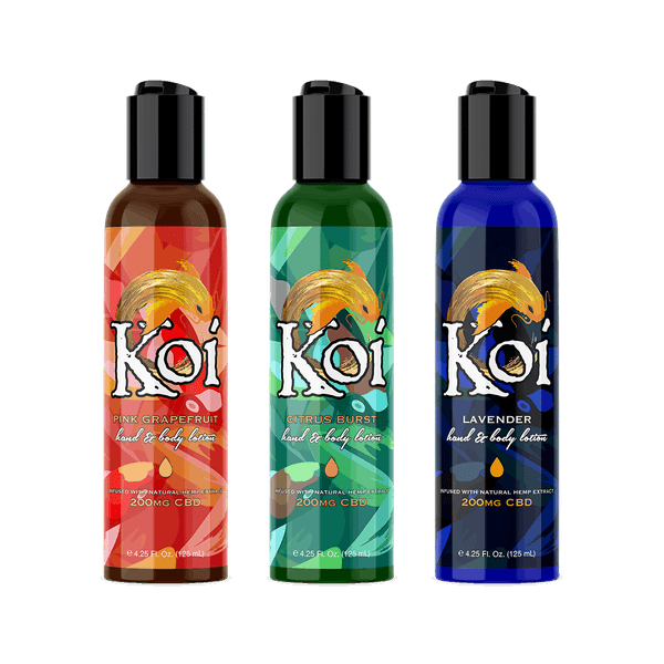 Koi CBD Hand and Body Lotion 125ML - 200MG-CBD Topicals-fourseasons-trade