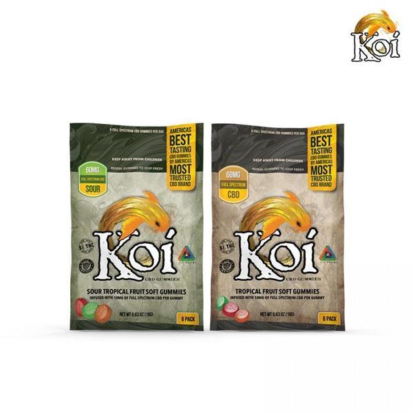 KOI FULL SPECTRUM CBD GUMMIES - 6 PACK / 60 MG-CBD Gummies-fourseasons-trade