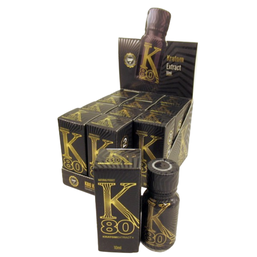 K80 KRATOM EXTRACT 10ML BOTTLES 12 PER BOX