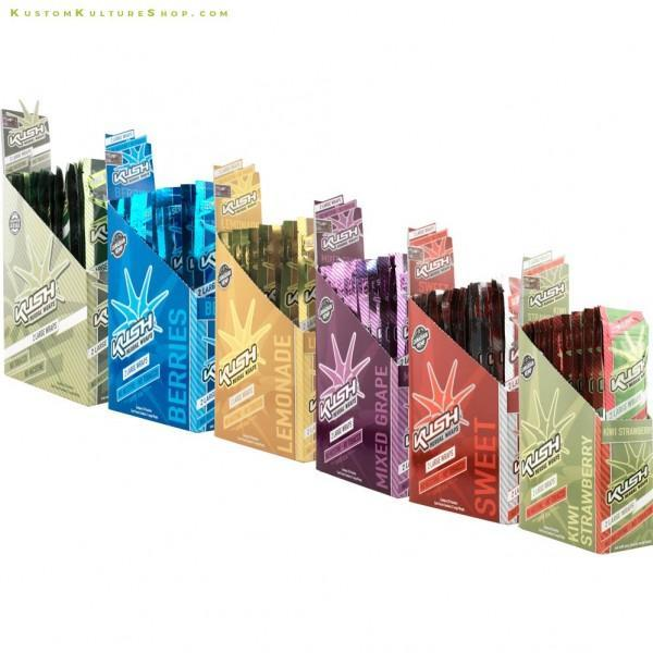 KUSH CONICAL HERBAL CONE WRAPS - 2 IN POUCH / 15 POUCH IN A BOX-TOBACCO WRAPS-fourseasons-trade